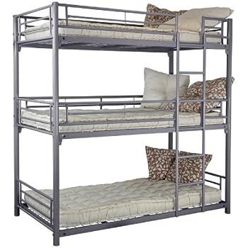 3level bunk bed metal