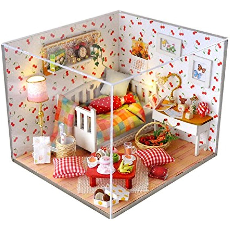 AHWZ 3D Puzzle, DIY Maison de en poupée en de Bois Mini kit de Cabine de Vacances pour Enfants Cadeau d'anniversaire Miel Chaud 35dbe1