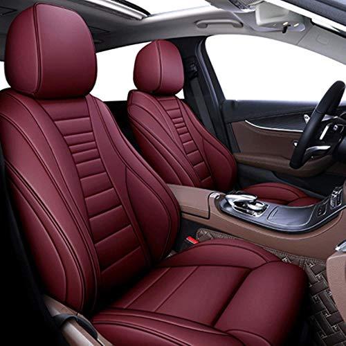 HIZH Car Seat Covers per Nissan Qashqai J10 Accessori Almera N16 Juke Patrol Copertura Y61 X-Trail T31 per Sedile, Nome del Colore, Vino Rosso St
