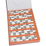 Ersatz-Block für Bingo Bartl Bingo-Spielscheine (90 Kugeln) 600 Spielscheine