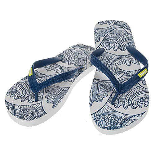 SINNER Herren Zehentrenner - Komfortable Flip Flops mit Rutschfester Sohle - Hochwertiges Design in Mehrere Modische Farben, Obi - Blau, 44 EU