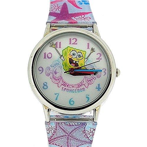 spongebob-orologio-analogico-bambini-ghiera-metallo-cinturino-ecopelle-stella-marina-sb41
