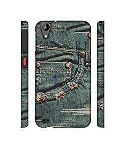 NattyCase Jeans Design 3D Printed Hard Back Case Cover for HTC Desire 630