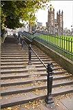 Posterlounge Leinwandbild 120 x 180 cm: Treppenstufen in Edingburgh von Amanda Hall/Robert Harding - fertiges Wandbild, Bild auf Keilrahmen, Fertigbild auf Echter Leinwand, Leinwanddruck