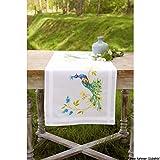 Kit chemin de table Paon avec des fleurs