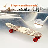 Ultrey Complete Skateboards Longboard Deck Cruiser Skateboard für boys and girls ABEC-7 Kugellager Ahornholz 71.5 x 19cm (Typ 3)