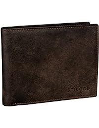STILORD 'Chester' Portafoglio uomo vintage in pelle Elegante portafogli per Carta d'identità con portamonete Materiale esterno in vero cuoio