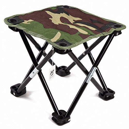 Ekkong sgabello pieghevole da pesca/campeggio/escursione/trekking, sedia portatile per pesca/campeggio/trekking