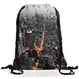 VOID N.Y. Skyline Rucksack Tasche Turnbeutel Sport Jute Beutel new york manhattan usa