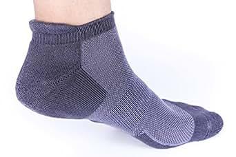 Heelium Women's Ankle Length Bamboo Athletic Socks (Grey, Free Size)