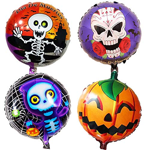 WYXlink Happy Halloween Feier Skeleton Party Dekoration Ballon Set (A) (Skeleton Dekoration Halloween Band)