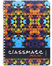 Classmate Soft Cover 6 Subject Spiral Binding Notebook, Unruled, 300 Pages
