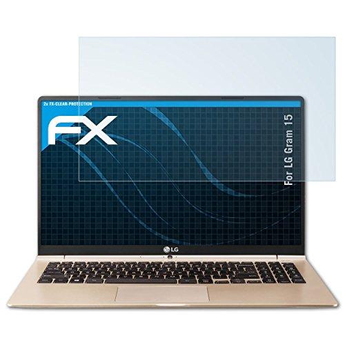atFolix Schutzfolie kompatibel mit LG Gram 15 Folie, ultraklare FX Bildschirmschutzfolie (2X)