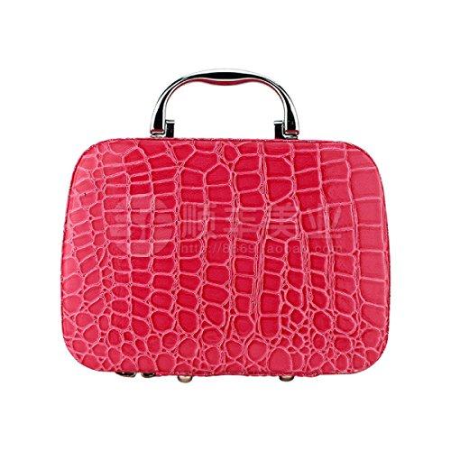 Jia Qing Borsa Cosmetica Universale Versatile Per Il Trasporto Portatile Borse Cosmetiche Universal Bag Di Grande Capacità Red1