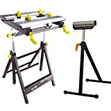 Universal work Mate adjustable height workmate DIY Folding Bench with Roller Stand by Arrows UK