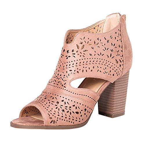☀NnuoeN☀ Gomma Donna Ragazza Chelsea Pioggia Bassi Lavoro Stivaletti Ankle Boots Piatto Marten Scarpe Casuali Stivali Sandali
