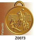SPORTIVA 10 MEDAGLIE PREMIAZIONE PALLAVOLO - RIFINITA MM 32 in Lega di ZAMA con NASTRINO Tricolore - Made in Italy