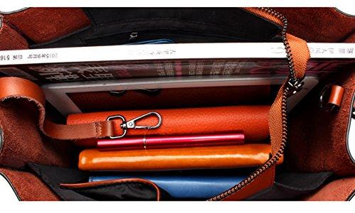 SAIERLONG Nuovo Donna Rosso Vera Pelle Borse Tracolle Rosso
