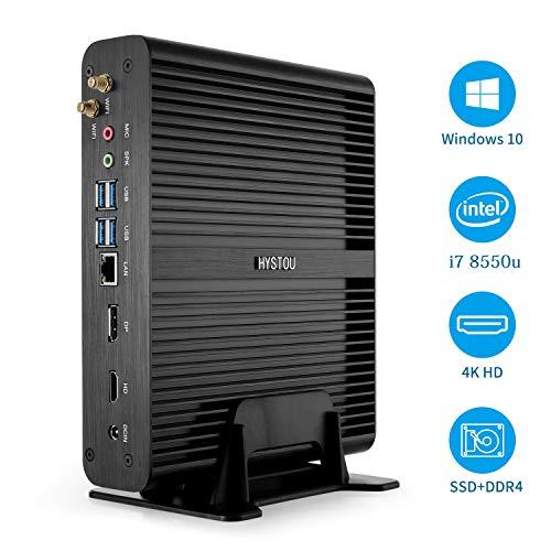 Preisvergleich Produktbild Mini Desktop Intel Nuc Core i7 Kaby Lake R PC Fanless Tiny Gaming Computer Windows 10 DDR4 NO RAM / SSD / HDD Intern WiFi