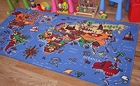 Kids Large 100 x 150cm World Map Play Mat Educational