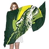 COOSUN Lobo que grita Ligera bufanda de seda larga de la bufanda del abrigo del mantón de la...