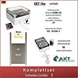 AXT-Electronic Set 1bs - Hühnerklappe mit Batterien, Mechanische Zeitschaltuhr, manuelles Schließen möglich