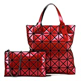 JSGJXKBM essenger Bag Women's Tote Bag Falten Rubiks Cube Frauen Geometrie Lingge Perlglanz Pailletten Cross-Bill Schulter