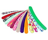 Eva Curved Arcuate Colorful Nail File-Double-sided Sponge Nail File Professional Waterproof Nail Files Emery Board Cosmetic Manicure Pedicure Nail Art