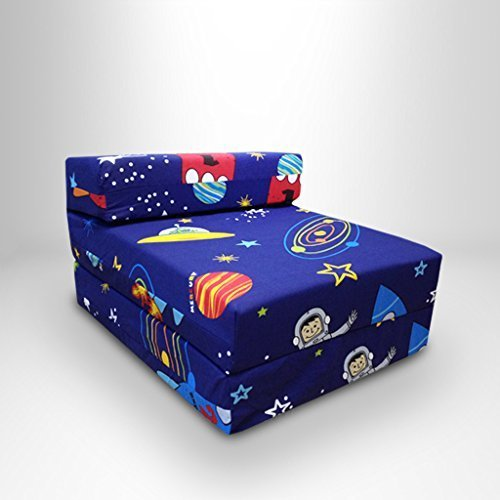 Children's Space Boy Single Fold Out Foam Z Bed Sleepover Guest Mattress Chair