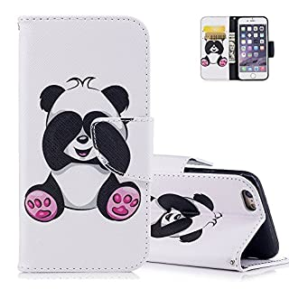 Aeeque iPhone 6S Case, Ultra-thin PU Leather Bookstyle Flip Wallet Magnetic Closure Wallet Cover and Lovely Panda Pattern and for iPhone 6 / 6S 4.7
