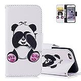 aeeque 24tipos de + en forma de mariposa Animal Panda patrón y función de plegado de piel sintética funda con tapa para iPhone 6Plus/6S Plus 5.5Inch