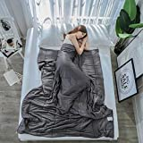 WEII Gravity Blanket Relief Pressure Hilfe Sleep Gravity Decke Creative Home Sleep Gravity Blanket,Dunkelgrau,S2