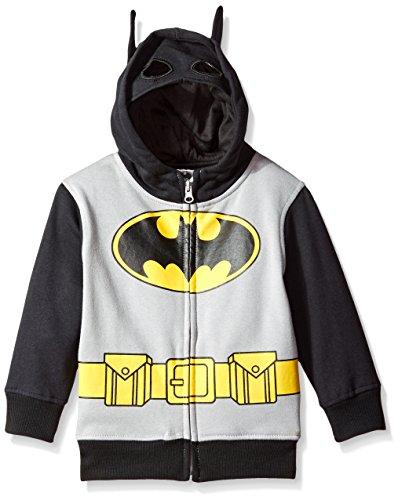 Batman Logo Jungen Zip Up Kostüm Hoodie Sweatshirt (Toddler (Superman 2t Kostüm)