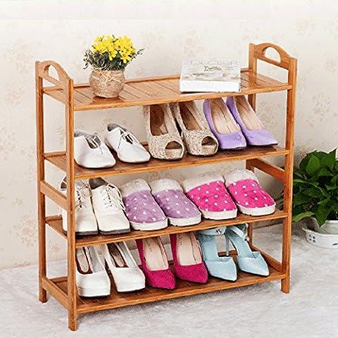 3/4/5ripiani bambù Shoe Rack Holder Scarpe Panca Boot unità Display Organizer, 73CM