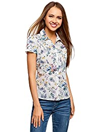 A Fiori it Donna Bianca Bluse Amazon Tropicale Camicia E HS4BxHwZ