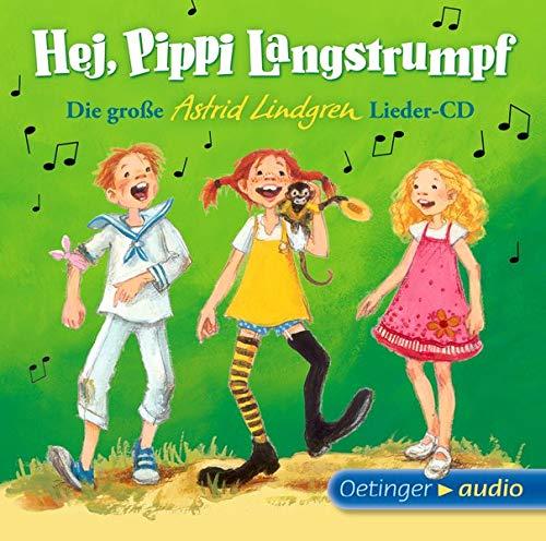Hej, Pippi Langstrumpf! (1 CD): Die große Astrid-Lindgren-Lieder-CD, ca. 37 Min. - - Bildungs Audio-bücher