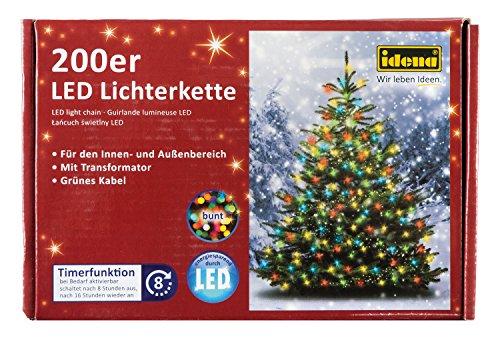 Lichterkette mit 200 LED bunt, mit 8 Stunden Timer Funktion, für Partys, Weihnachten, Deko, Hochzeit, als Stimmungslicht, ca. 27,9 m ()