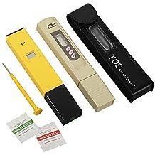 XCSOURCE® Conjunto Profesional pH + Probador TDS, Combo Medidor pH Alta Precisión ±0.1ph y Medidor TDS Precisión ±2% BI334