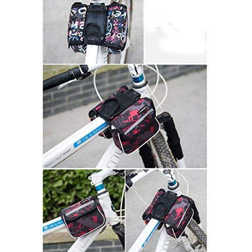 lerben Multifunktional outdoor Radfahren Rahmen Tasche Fahrrad Top Tube Tasche vorne Lagerung Double Tasche Rot