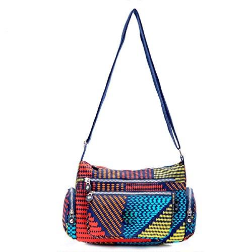 Ms. Messenger Bag Femminile BUKUANG Oxford Di Nylon Piccola Borsa Borsa Mamma Di Mezza Età Borsa Da Viaggio Di Tela,P T