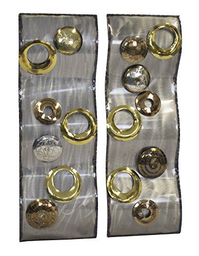 Decoline Metall Wand-Bild (H) 2er Set Kreise je 27 x 79cm - Kreise-wand-skulptur