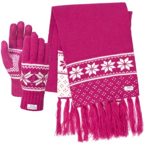 trespass-womens-corina-scarf-set-magenta