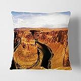 BIG Box Art weiß Rückseite Landschaft Hufeisen Bend Canyon Arizona USA Kissen werfen Kissen, Mehrfarbig, 43x 43cm