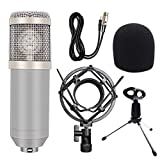Wuyan Kit Microfono a condensatore Professionale Microfono da Karaoke Condensatore da Studio Mikrofon BM 800 Mic per Radio Baodcasting, 3
