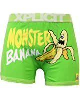 Mens Boxers Xplicit Underwear Shorts Trunks Hard Times Ahead Naughty Monster New