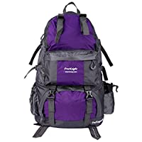 Freeknight 40L Lightweight Water Resistant Travel Backpack Daypack Hiking Backpack Camping Rucksack Climbing Knapsack for Outdoor Sports Purple