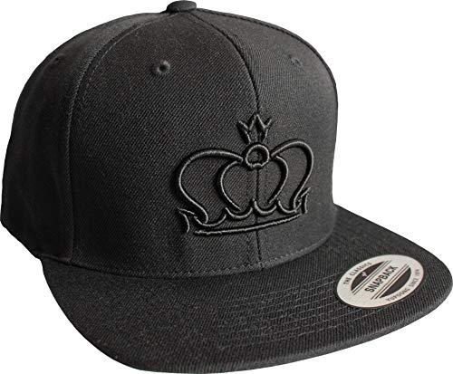 (Cap: Queen - Partner-Cap - Snapback Flexfit - Urban Streetwear - Männer Mann Frau-en - Baseball-cap - Hip-Hop Rap - Mütze - Kappe - Königin - Basecap - Schwarz - King König - Krone (One Size))