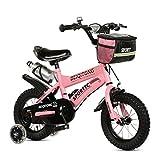 Kinderfahrräder Kinder Fahrrad 12|14|16|18|20 Zoll Outdoor Kind Baby Kind Mountainbike Jungen Mädchen Geschenk für 2-11 Jahre alt mit Flash-Trainingsrad | Stoffkorb | Wasserflasche Safe Damping ( Farbe : Pink , größe : 18 inches )