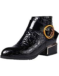 Botas de Nieve Mujeres 2018, Btruely Botas de Mujer Botines Mujer Invierno Botas patrón de cocodrilo Zapatos Botines…