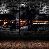 mmwin F1 Red Bull Racing 5 P Gemälde Druck auf Leinwand HD Abstrakte Leinwand Malerei Büro Wandkunst Wohnkultur Wandbilder